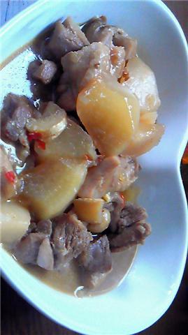 鶏と大根のピリ辛煮