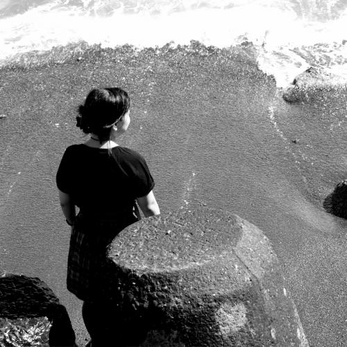 海岸(モノクロ)