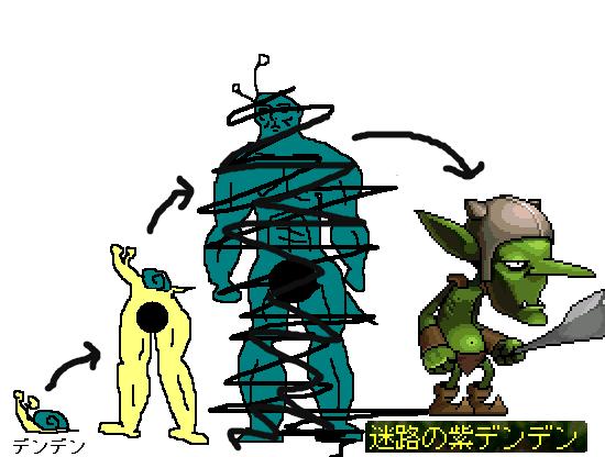 進化するデンデン