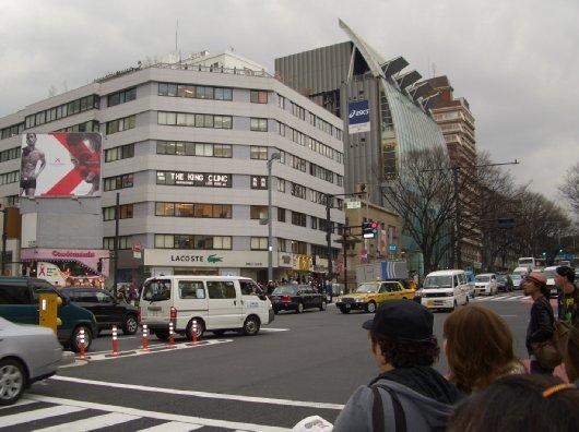 3月26日の原宿・交差点