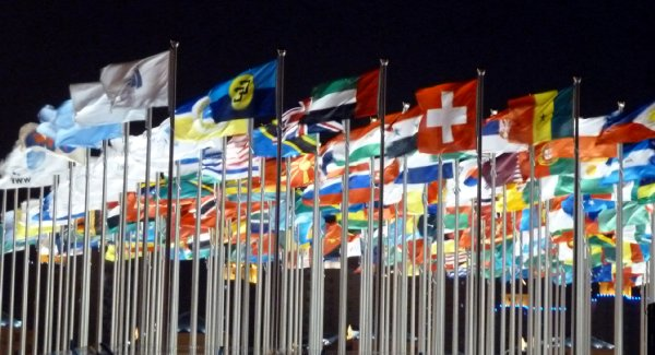 41万博開場の国旗