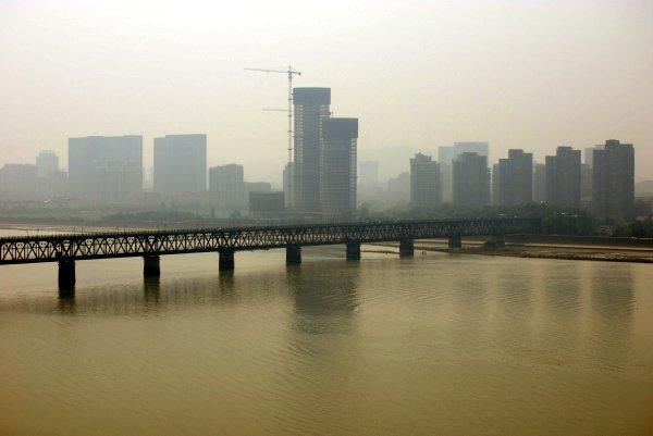 杭州03六和塔から見た景色