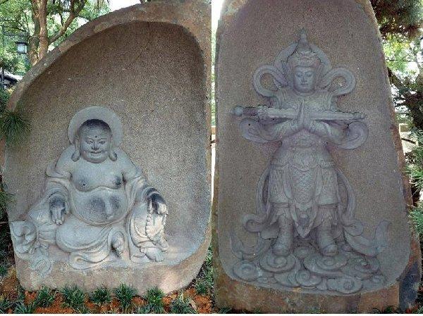 杭州04六和塔裏の石造