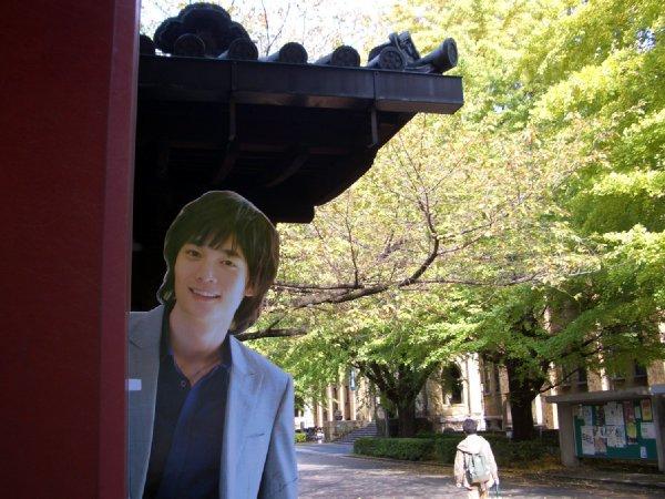 割り箸王子at東大赤門2