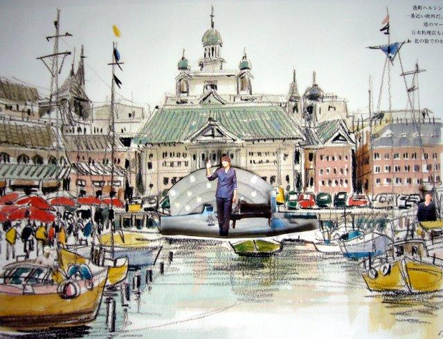 ヘルシンキ大聖堂を背にした水上音楽祭