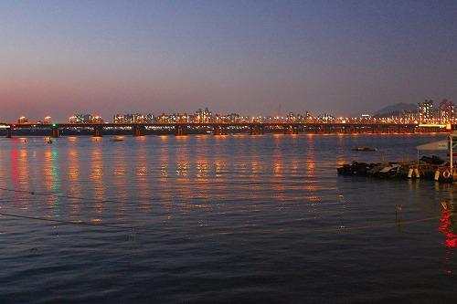 ⑫漢江 夜2