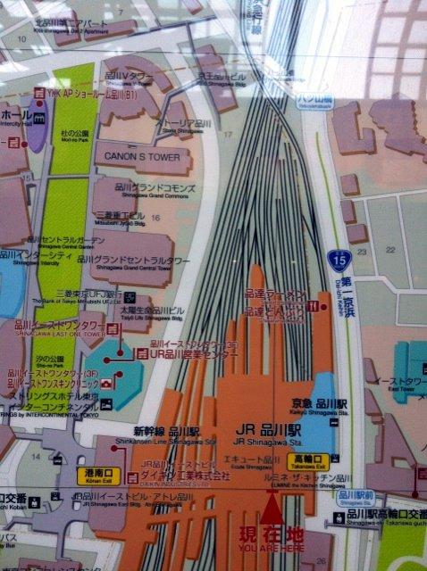 品川駅中央改札地図