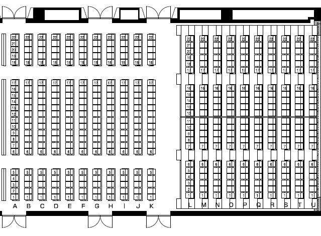 The Grand Hall座席表