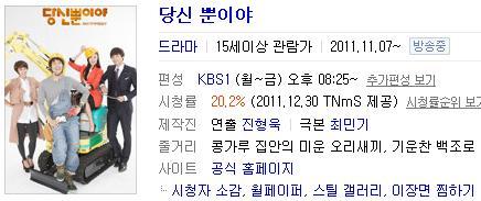 あなただけ第39話視聴率(TNmS)