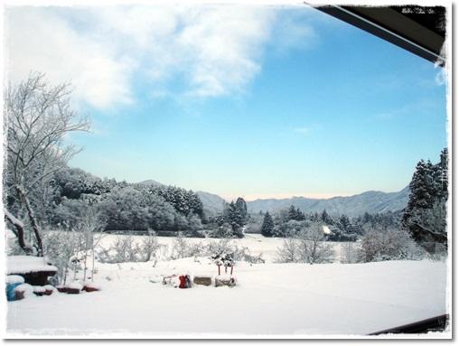 大雪の元旦1