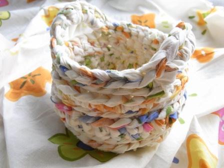 裂き編みかご プリント