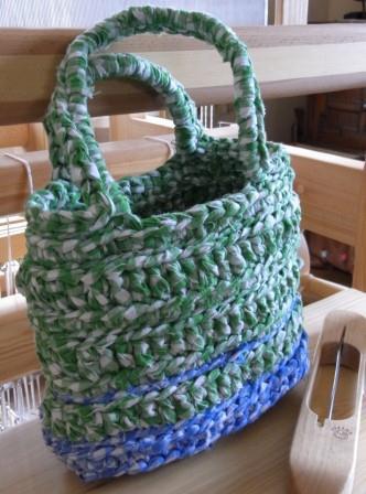 裂き編みバッグ1