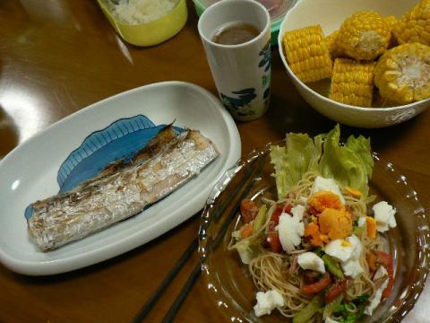 2008年8月12日夕食
