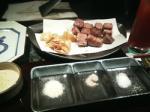 フィレステーキとガーリックチップ