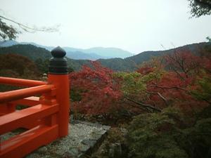 京都 鞍馬山からの景色