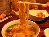刀削麺の坦々麺