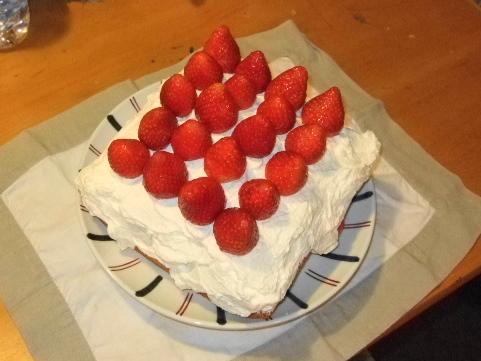 ケーキ完成