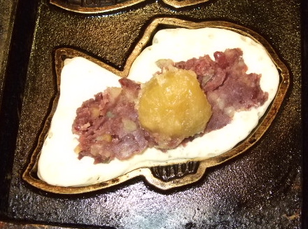 栗入り鯛焼き2
