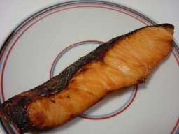 鮭のレモン醤油漬焼き