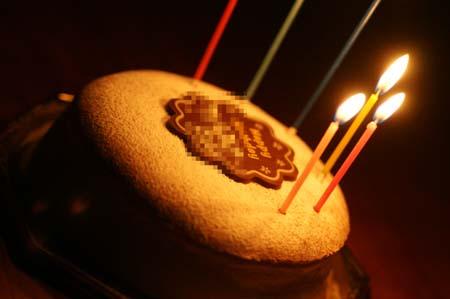 うなの1歳の誕生日ケーキと一緒なのよ~(笑)