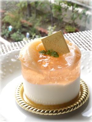桃のヨーグルトムースプチ