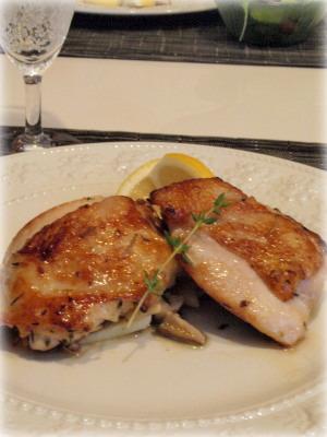 鶏肉の白ワインマリネソテー