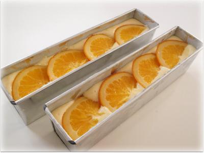 オレンジケーキ生地