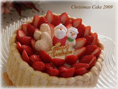 クリスマスケーキアップ♪