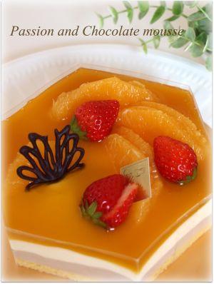 オレンジと苺とチョコ細工♪