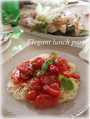 トマトの冷製カッペリーニ♪