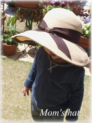 ママの帽子。。。