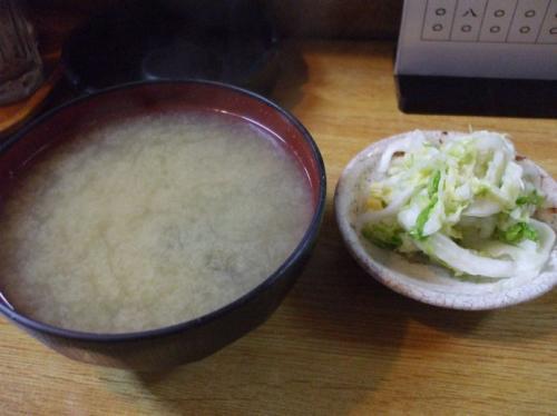 味噌汁&漬物
