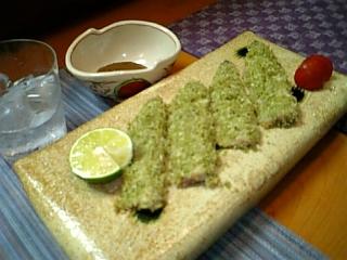 鰯の香草パン粉焼き(?)