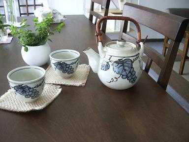 ぶどうのお茶セット