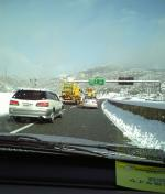 雪のジャンクション