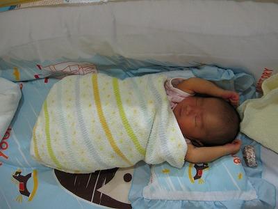 赤ちゃんの寝相2