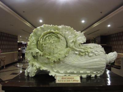翡翠で出来た白菜