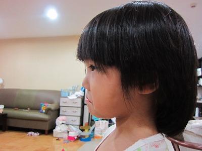 ちび子の散髪2