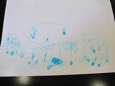 ちび子作(家族の肖像画)