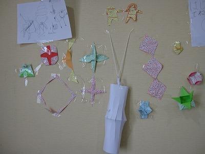 祭壇(折り紙の飾り)