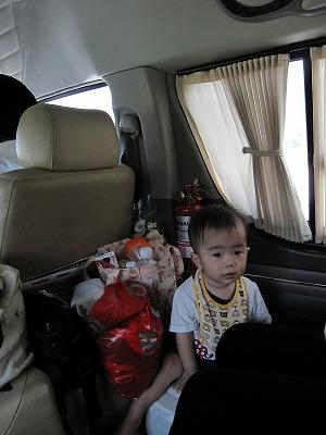 車内での赤ちゃん