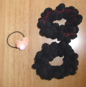 編み物シュシュ