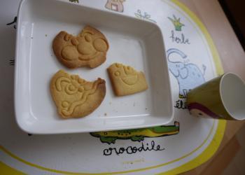 アンパンマンクッキー食べたよ