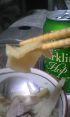 せんべい汁完成