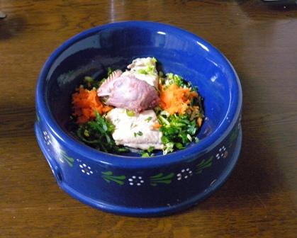 鶏頭と鮭ちゃんちゃん焼きもどきDSCN3178