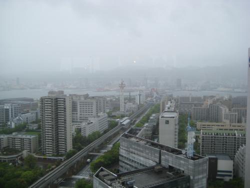嵐の神戸 ポーヨピアホテル