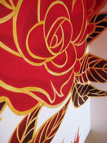 トラットリアローザ 赤いバラ