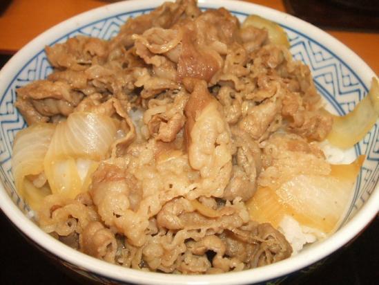 吉野家牛丼(並)270円