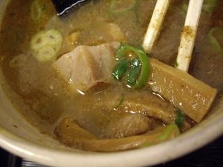 らーめん伊東 胡麻醤油つけ麺(具)