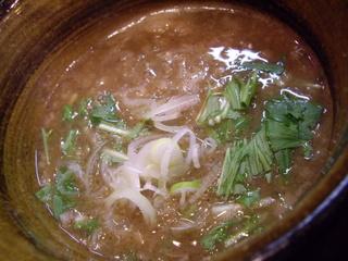 麺屋えん寺 つけ麺(つけ汁)